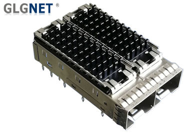 10G Ethernet 1x2 SFP Cage Assembly Piggyback Heat Sink Press Fit Mounting