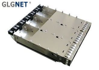 Three Ports QSFP28 Connector Cage EMI Spring Press Fit Mount Type Long Lifespan